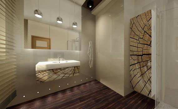 Nowa linia w firmie Expo-Drew stworzyła zupełnie nowe możliwości w zakresie uzyskania wysokopołyskowych dekorów na frontach mebli łazienkowych. Fot. Expo-Drew