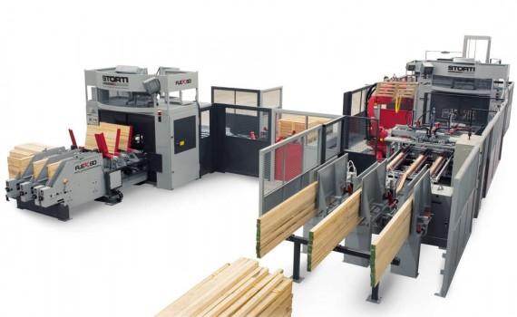 2 Linia produkcji palet oparta na urządzeniu FLEX 50 oraz zbijarce GSI 170. Fot. STORTI