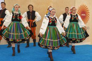 Zespół Pieśni i Tańca Ziemi Częstochowskiej podczas ceremonii
