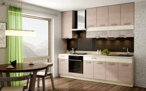 Nawę niedużą wnękę przeznaczoną na aneks kuchenny można w pełni wykorzystać zabudowując ją wysokimi szafkami z systemu KAMduo XL. Fot. KAM