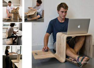 3 w 1: krzesło, stół i biurko. Fot. Hettich/Rehau