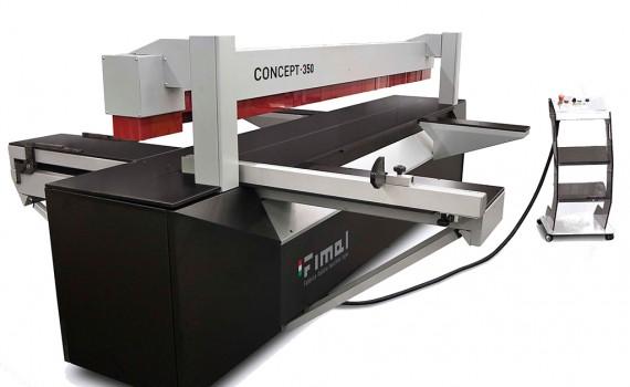 Concept 350  jest maszyną o zaawansowanych możliwościach pilarki formatowej, zamkniętych w kompaktowej budowie. Jej największe zalety to oszczędność czasu i miejsca. Fot. Teknika