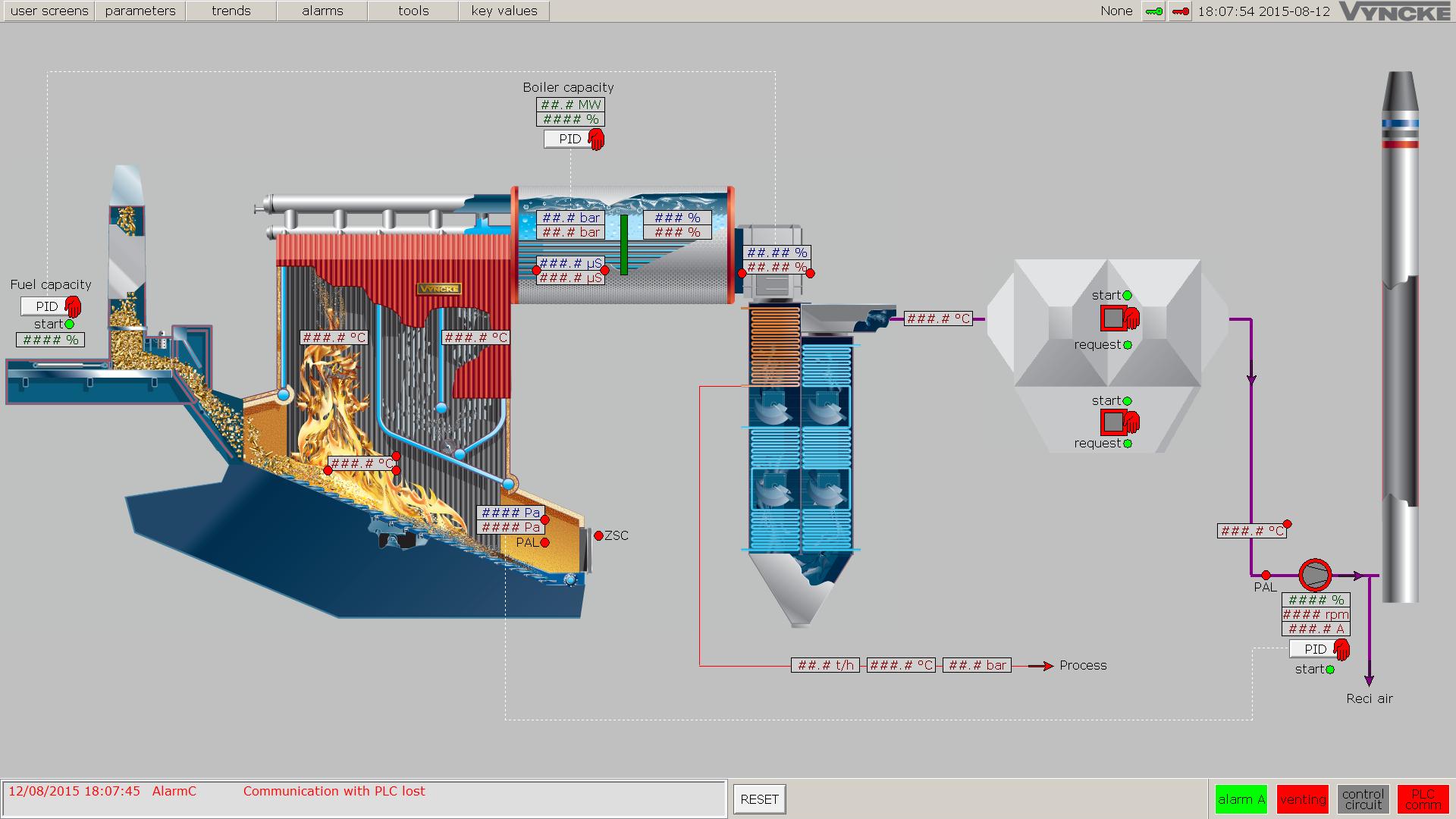 Cała energia cieplną potrzebna do zasilania suszarni i prasy głównej powstanie w kotle Vyncke typ JNO o mocy 13,4 MW. Fot. Steico