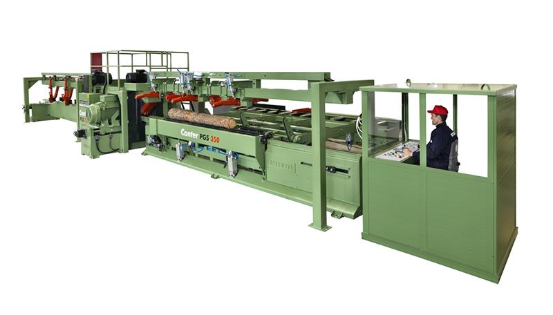 Canter PGS 350 dedykowany jest producentom palet, którzy chcą rozwinąć własne zaplecze tartaczne przecierając wydajnie drewno mało- i średniowymiarowe. Fot. STORTI