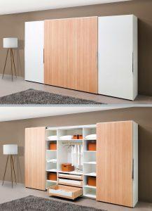 System TopLine XL pozwala na wyjątkowo lekkie i równomierne przesuwanie drzwi o ciężarze nawet do 80 kg. Po otwarciu drzwi idealnie się pokrywają, co zapewnia wygodny dostęp do szuflad.  Fot. Hettich