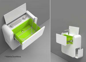 Umywalka z szufladą zmieści się nawet w najmniejszym mieszkaniu. Fot. Hettich/Rehau