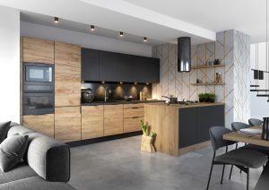 W kuchni liczy się nie tylko dobry design i funkcjonalność, ale przede wszystkim wysoka jakość. Odpowiednio zabezpieczone meble będą odporne na działanie wilgoci, wpływ i zmiany temperatury, ale również bezpieczne dla zdrowia użytkowników. Fot. KAM